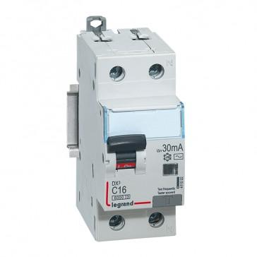 RCBO - DX³ 6000 -10 kA -1P+N-230 V~ -16 A -30 mA -AC type -N right hand