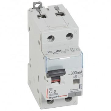 RCBO - DX³ 6000 -10 kA -1P+N-230 V~ -10 A -300 mA -AC type -N right hand