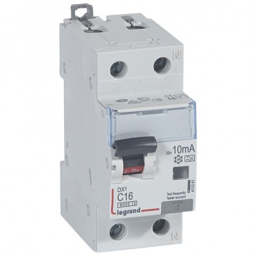 RCBO - DX³ 6000 -10 kA -1P+N-230 V~ -16 A -10 mA -A type -N right hand