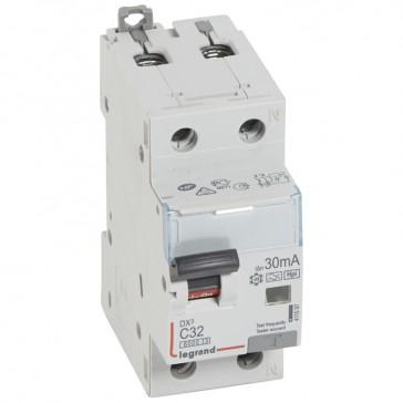 RCBO - DX³ 6000 -10 kA -1P+N-230 V~ -32 A -30 mA -Hpi type -N right hand