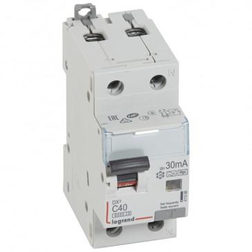 RCBO - DX³ 6000 -10 kA -1P+N-230 V~ -40 A -30 mA -Hpi type -N right hand