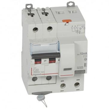 RCBO - DX³ 6000 -10 kA -2P-230 V~ -20 A -10 mA -AC type