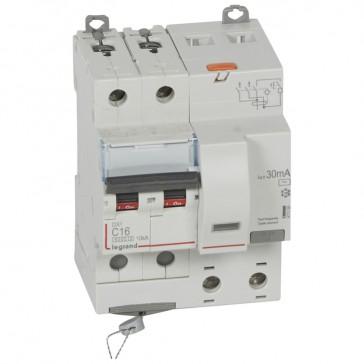 RCBO - DX³ 6000 -10 kA -2P-230 V~ -16 A -30 mA -AC type
