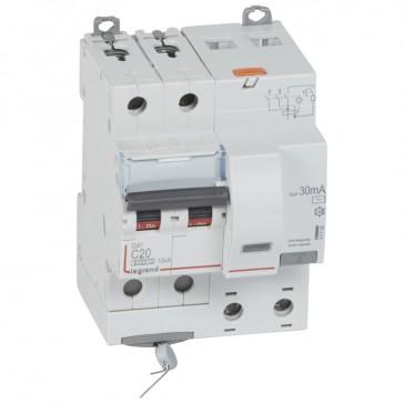 RCBO - DX³ 6000 -10 kA -2P-230 V~ -20 A -30 mA -AC type