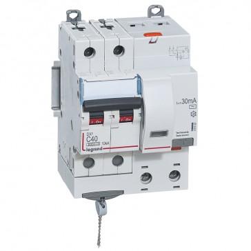 RCBO - DX³ 6000 -10 kA -2P-230 V~ -40 A -30 mA -AC type