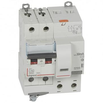 RCBO - DX³ 6000 -10 kA -2P-230 V~ -50 A -30 mA -AC type