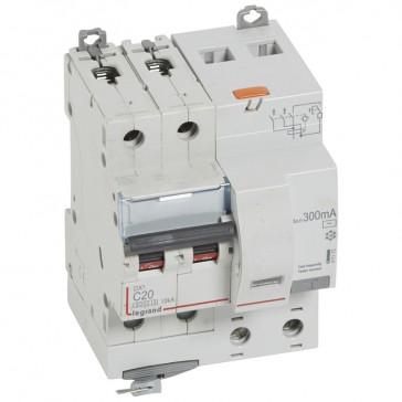 RCBO - DX³ 6000 -10 kA -2P-230 V~ -20 A -300 mA -AC type