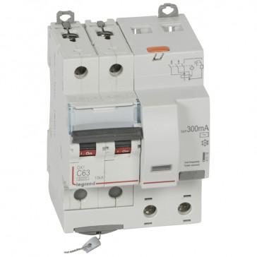 RCBO - DX³ 6000 -10 kA -2P-230 V~ -63 A -300 mA -AC type