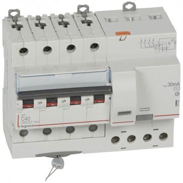 RCBO - DX³ 6000 -10 kA -4P-400 V~ -40 A -30 mA -AC type