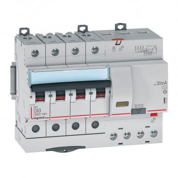 RCBO - DX³ 6000 -10 kA -4P-400 V~ -63 A -30 mA -AC type