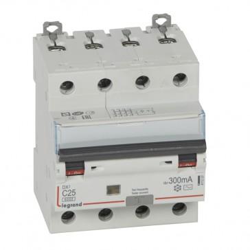 RCBO - DX³ 6000 -10 kA -4P-400 V~ -25 A -300 mA -AC type