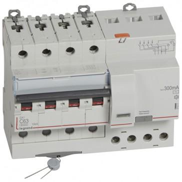 RCBO - DX³ 6000 -10 kA -4P-400 V~ -63 A -300 mA -AC type