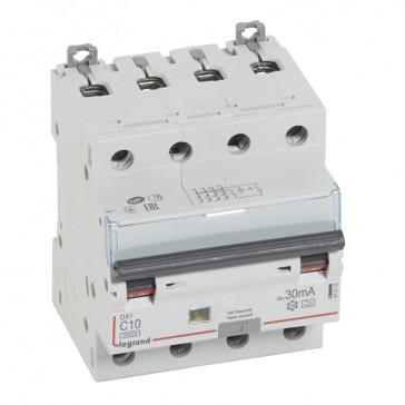RCBO - DX³ 6000 -10 kA -4P-400 V~ -10 A -30 mA -A type