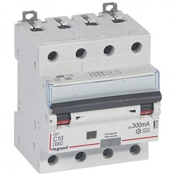 RCBO - DX³ 6000 -10 kA -4P-400 V~ -10 A -300 mA -A type