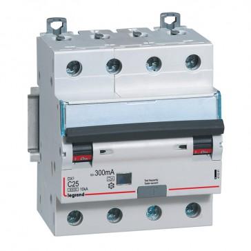 RCBO - DX³ 6000 -10 kA -4P-400 V~ -25 A -300 mA -A type