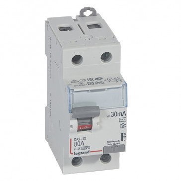RCD DX³-ID - 2P 230 V~ - 80 A - 30 mA - AC type