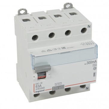 RCD DX³-ID - 4P 400 V~ neutral right hand side - 63 A - 300 mA - A type