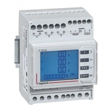 Multifunction measuring unit EMDX³ - rail mounting - 4 modules