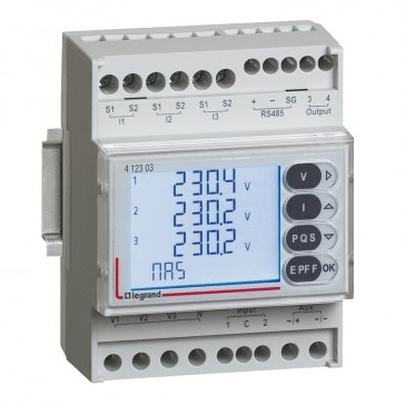 Multifunction measuring unit with digital inputs EMDX³ - rail mounting - 4 modules