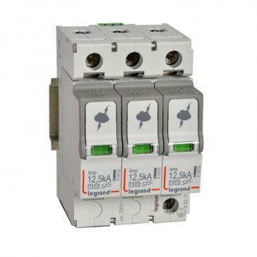 SPD - protection of main distribution board - T1+T2 - limp 12.5 kA/pole - 3P