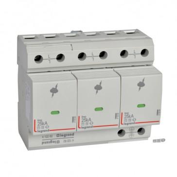 SPD - high risk level installation - T1+T2 - limp 25 kA/pole - 3P