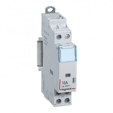Power contactor CX³ - with 24 V~ coll - 2P 250 V~ -16 A - N/C+N/O