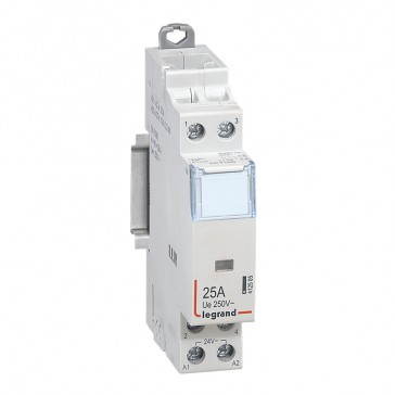 Power contactor CX³ - with 24 V~ coll - 2P 250 V~ - 25 A - 2 N/O