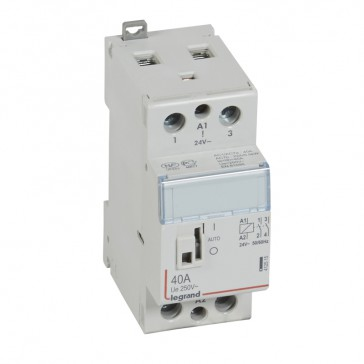 Power contactor CX³ - with 24 V~ coll and handle - 2P 250 V~ - 40 A