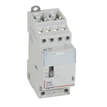 Power contactor CX³ - with 24 V~ coll and handle - 4P 400 V~ - 25 A