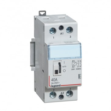 Power contactor CX³ - with 230 V~ coll and handle - 2P 250 V~ - 40 A