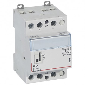 Power contactor CX³ - with 230 V~ coll and handle - 3P 400 V~ - 63 A