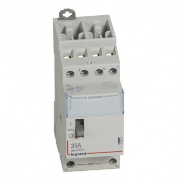 Power contactor CX³ - with 230 V~ coll and handle - 4P 400 V~ - 25 A