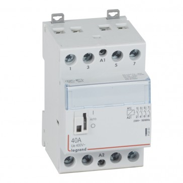 Power contactor CX³ - with 230 V~ coll and handle - 4P 400 V~ - 40 A