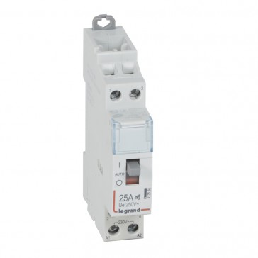 Power contactor CX³ - with 230 V~ coll and handle - 2P 250 V~ - 25 A - silent