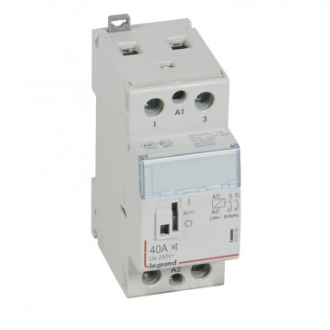 Power contactor CX³ - with 230 V~ coll and handle - 2P 250 V~ - 40 A - silent