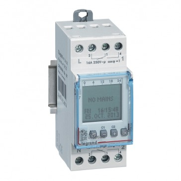 Programmable time switch digital disp. - multifunction annual prog. - 2 outputs