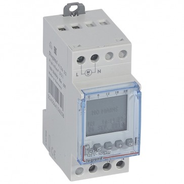 Programmable time switch digital disp. -120 V~ -multifunction 56 prog. -1 output