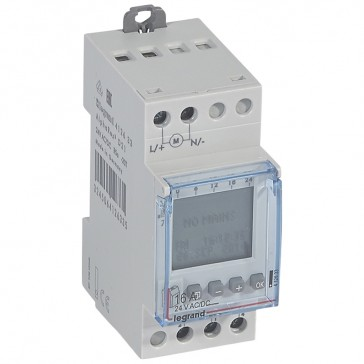Programmable time switch digital disp. -24 V~ -multifunction 56 prog. -1 output