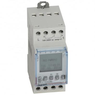Programmable time switch digital disp. -230 V~ -multifunction 2x28 prog.-2 output