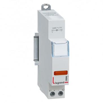 LED indicator - red 12/48 V~/= - 1 module