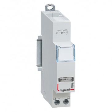 LED indicator - white 12/48 V~/= - 1 module