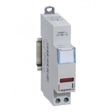 LED indicator - red 110/400 V~ - 1 module