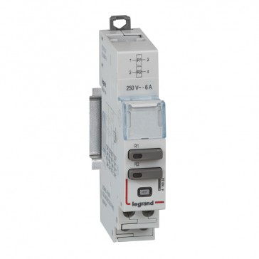 Universal control modules CX³ - 2 relays 240 V~ - 6 A - 1 module