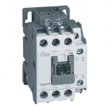 3-pole contactors CTX³ 22 - 9 A - 415 V~ - 1 NO + 1 NC - screw terminals
