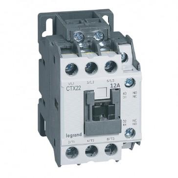 3-pole contactors CTX³ 22 - 12 A - 24 V~ - 1 NO + 1 NC - screw terminals