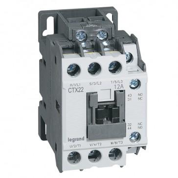 3-pole contactors CTX³ 22 - 12 A 230 V~ - 1 NO + 1 NC - screw terminals