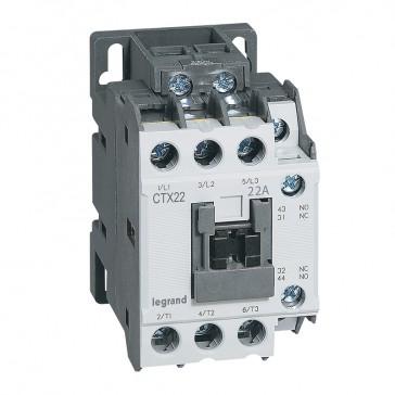 3-pole contactors CTX³ 22 - 22 A - 415 V~ - 1 NO + 1 NC - screw terminals