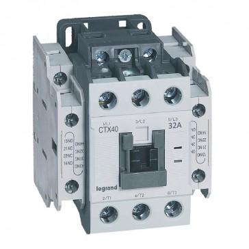 3-pole contactors CTX³ 40 - 32 A - 24 V= - 2 NO + 2 NC - screw terminals