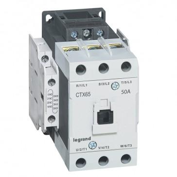 3-pole contactors CTX³ 65 - 50 A 230 V~ - 2 NO + 2 NC - screw terminals