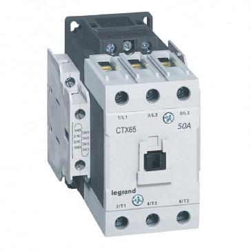 3-pole contactors CTX³ 65 - 50 A - 24 V= - 2 NO + 2 NC - lug terminals
